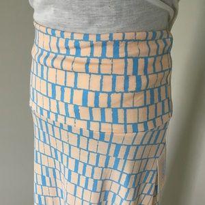LulaRoe Blue & Cream Maxi Skirt NWT Size S